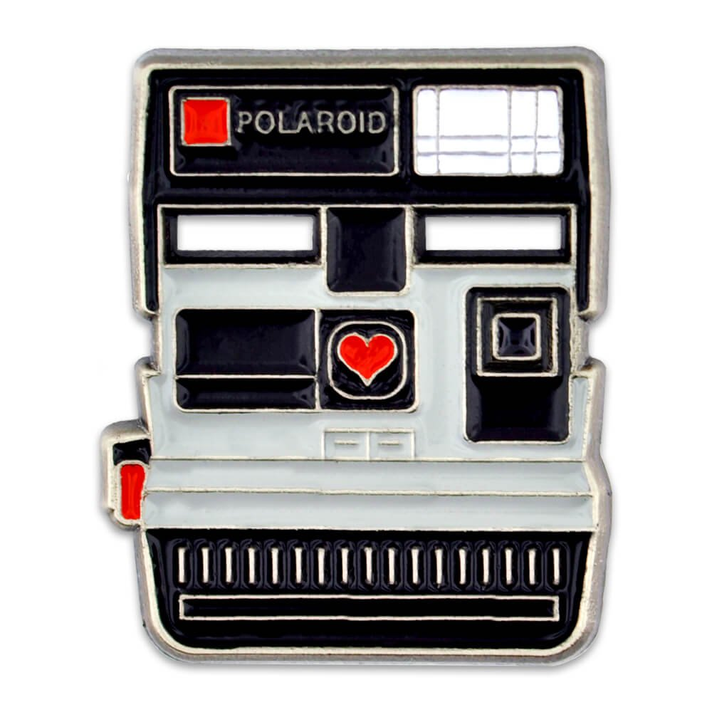 PinMart's Vintage Polaroid Camera Photograhy Trendy Enamel Lapel Pin