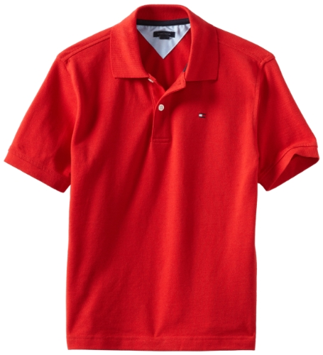 Tommy Hilfiger Big Boys' Short Sleeve Ivy Polo Shirt, Regal -