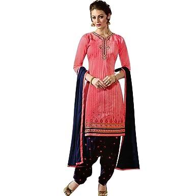 Designer Readymade Brocade Silk Patiala Salwar Kameez Suit Indian