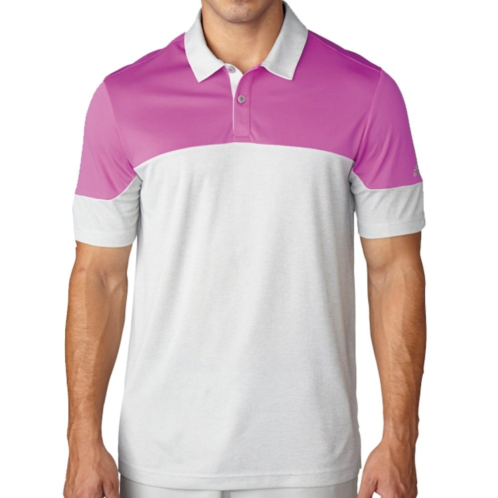 adidas Golf Men s Climachill? Blocked Polo Flash Pink XL: Amazon ...