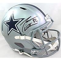 $295 » Jason Witten Autographed Dallas Cowboys Speed Full Size Helmet- Beckett W Black
