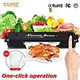 Vacuum Sealer Machine, KKONE 2018 New Food Vacuum Packing Machine with Automatic Vacuum Air Sealing System for Kitchen Dry & Moist Food Preservation Plus 15pcs FREE Sealer Bags