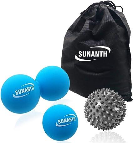 Yoga Pilates Spiky Massage Peanut Balls Set Deep Tissue Trigger Point Balls