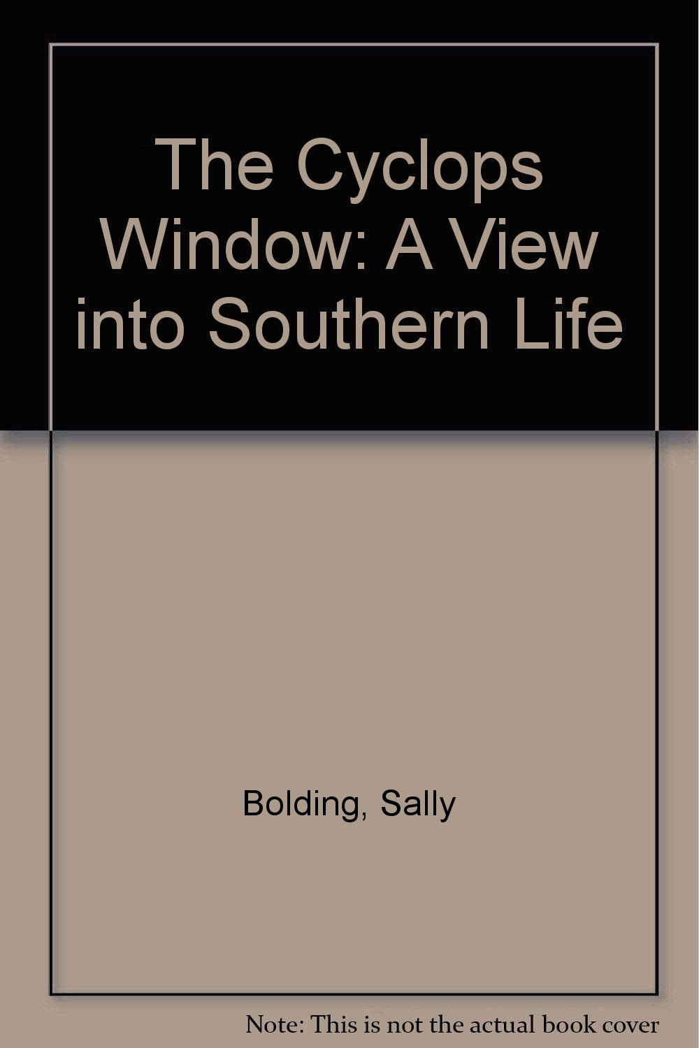 Read Online The Cyclops Window: A View into Southern Life PDF
