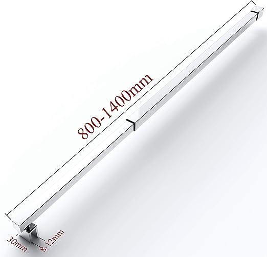 Barra de sujeción para mampara de ducha de 80 – 140 cm, soporte de ...