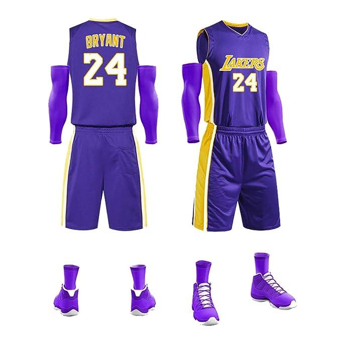 GJDU Ropa de Baloncesto para Hombres, 24 Kobe Bryant Absorbente de ...