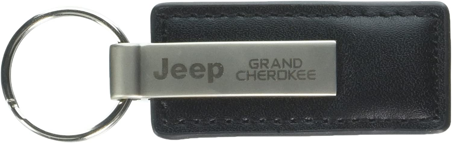 Key-ring Jeep Cherokee Black Leather Key Chain Keychain