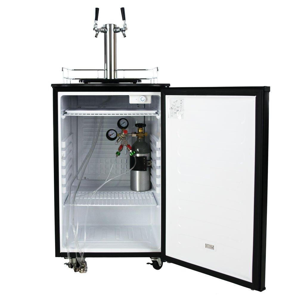 Amazon.com: KeggerMeister KM5600SS Dual Tap Pour Kegerator Keg Beer ...