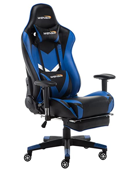 WENSIX Ergonomic High Back Computer Gaming Chair for PC Racing Chairs with Adjustable Headrest and Backrest  sc 1 st  Amazon.com & Amazon.com: WENSIX Ergonomic High Back Computer Gaming Chair for PC ...