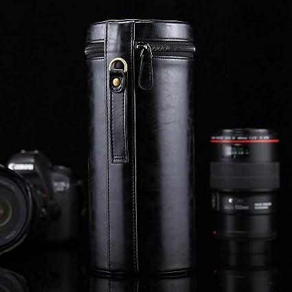Cámara accesorios / bolsas y cinturones / mochilas Sunyifan extra grande de piel caja de lente de cremallera