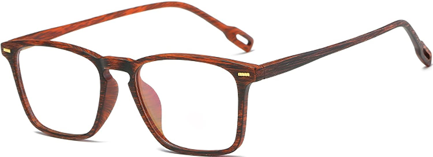 e06ecdfb65 Amazon.com  J L Glasses Vintage Classic Full Frame Wood Grain Unisex Glasses  Frame (Amber