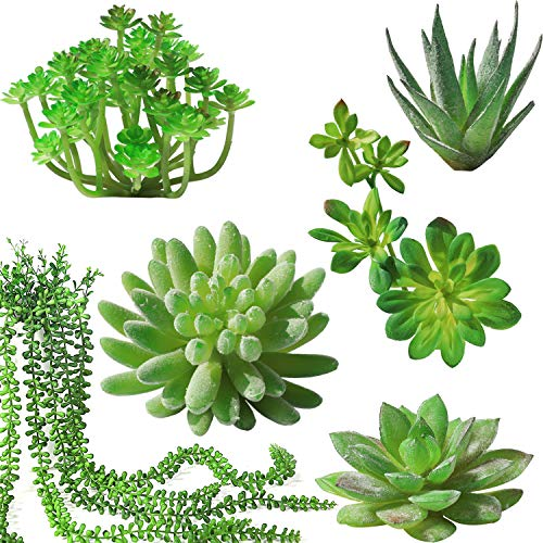(Luyue Fake Succulent Plants Artificial Succulent 6pc Faux Succulents Plants Unpotted for Wedding Home Office Decorations)