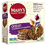 MARYS GONE CRACKERS CRACKER GF ONION ORG, 6.5 OZ, PK- 12