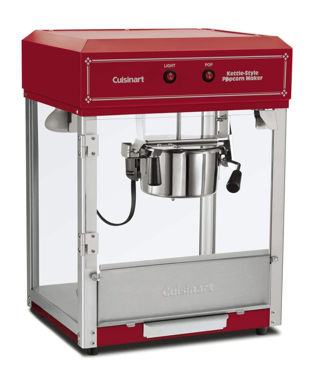 Cuisinart CPM-2500 Kettle-Style Popcorn Maker, Red
