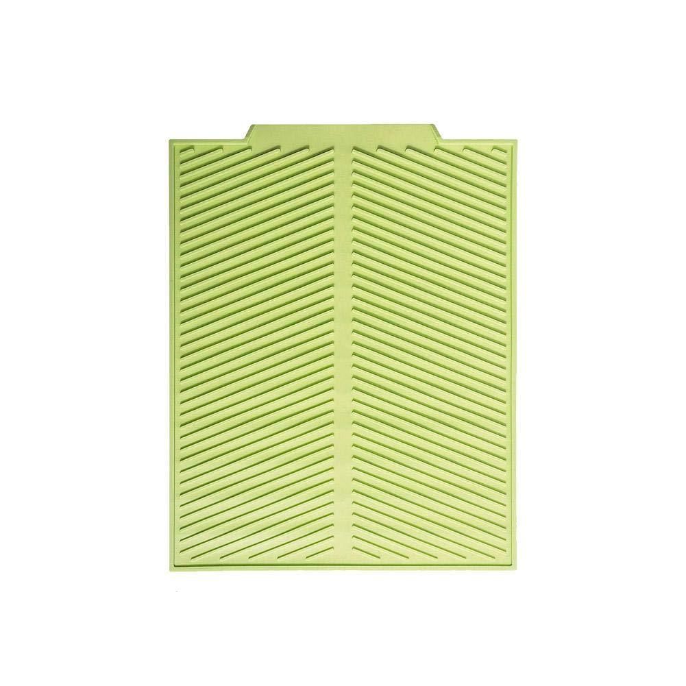 44x33x0.6cm Gris//Verde SmallPocket Escurreplatos para Fregadero De Silicona Plegable Escurridor De Platos Alfombrilla De Secado con Resistente Al Calor Antideslizante Escurreplatos De Silicona Mat