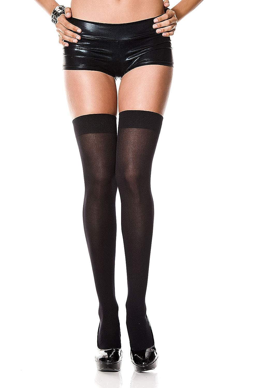 b5125f3da3a Amazon.com  Women s Opaque Knee   Thigh High Nylon Stockings  Clothing