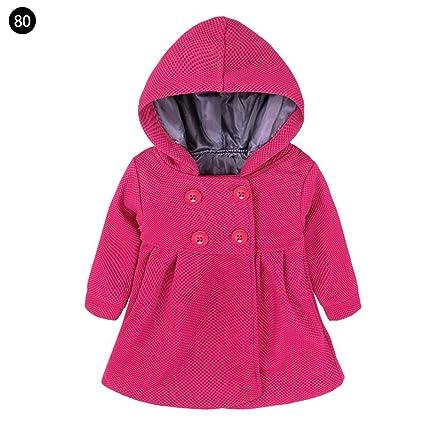 Ropa de Abrigo para niños Chaqueta de Jacquard para niñas Abrigo de Invierno Bebé niño Trench
