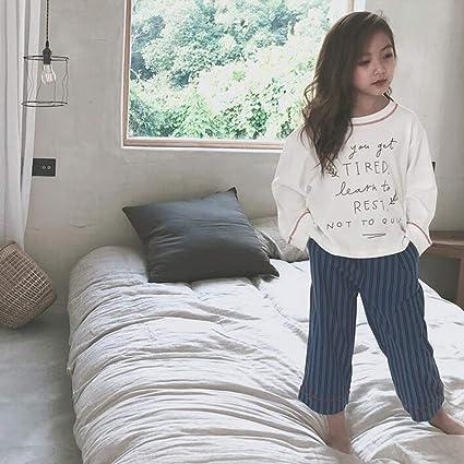Conjunto De Pijamas Camisones Ropa De Dormir Ropa De Noche Chica Algodón Cuello Redondo Primavera Otoño