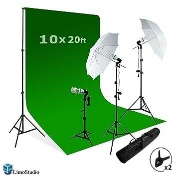 LimoStudio Photography Studio Video Photo ChromaKey Green Screen Background Support Kit 600W Output 3 Point Studio  sc 1 st  Amazon.com & Amazon.com : LimoStudio Photography Studio Video Photo ChromaKey ... azcodes.com