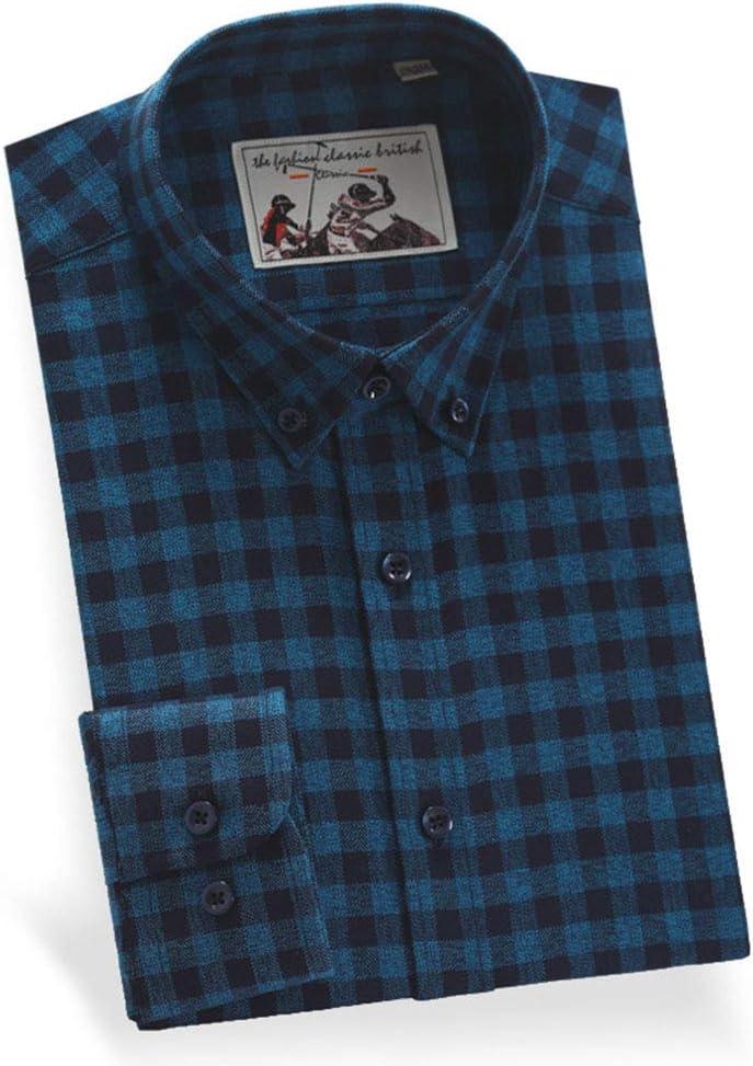 DZOUP Hombre Camisas de leñador a Cuadros Casuales Manga Larga de Algodón Shirt Camisa con Botones: Amazon.es: Deportes y aire libre