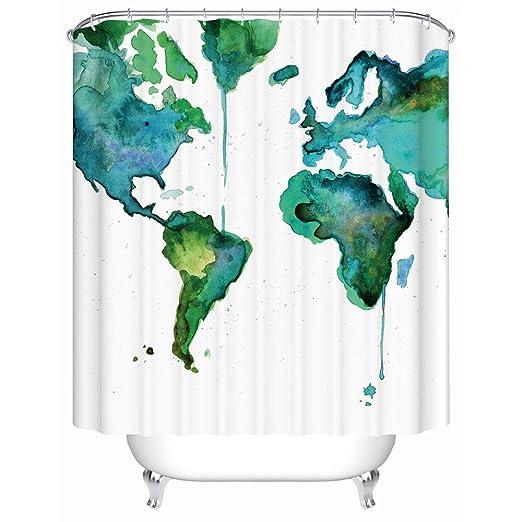 Amazon Graffiti Art Design Fabric Hip Hop Shower Curtain