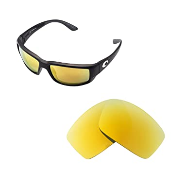 8748cd57ff88 Walleva Replacement Lenses for Costa Del Mar Fantail Sunglasses - Multiple  Options Available (24K Gold