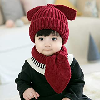 HQYXGS Berretto Bambino Ragazza Bambino Cappello Bambino Bambino, Bambina, Cappello Berretto Invernale Bambino Caldo Cappello Caldo Inverno,Gray
