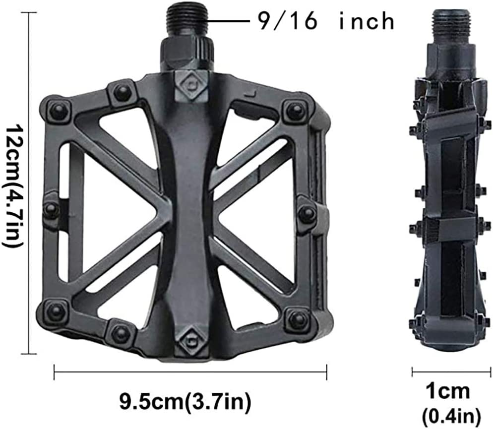 Universal Lightweight Aluminum CNC Bearing Bicycle Pedals for BMX Travel Cycle-Cross Bikes Bike Pedal 9//16 Non-Slip MTB Mountain Bicycle Pedals with 16 Anti-Skid Pins