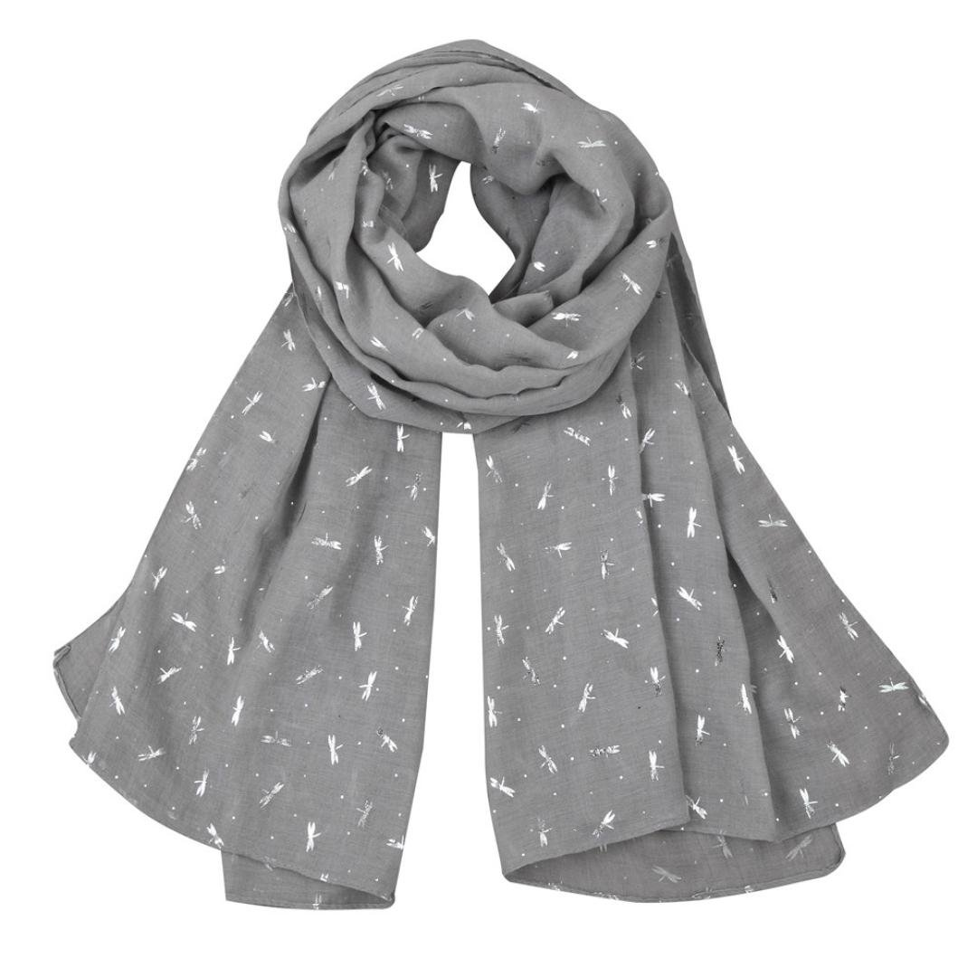 Bomdes Fashion Women's Foil Dragonfly Print Shawl Stole Scarf Scarves Pashmina