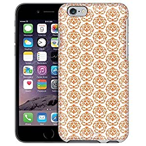 Apple iPhone 6 Case, Snap On Cover by Trek Victorian Drawn Orange on White Case