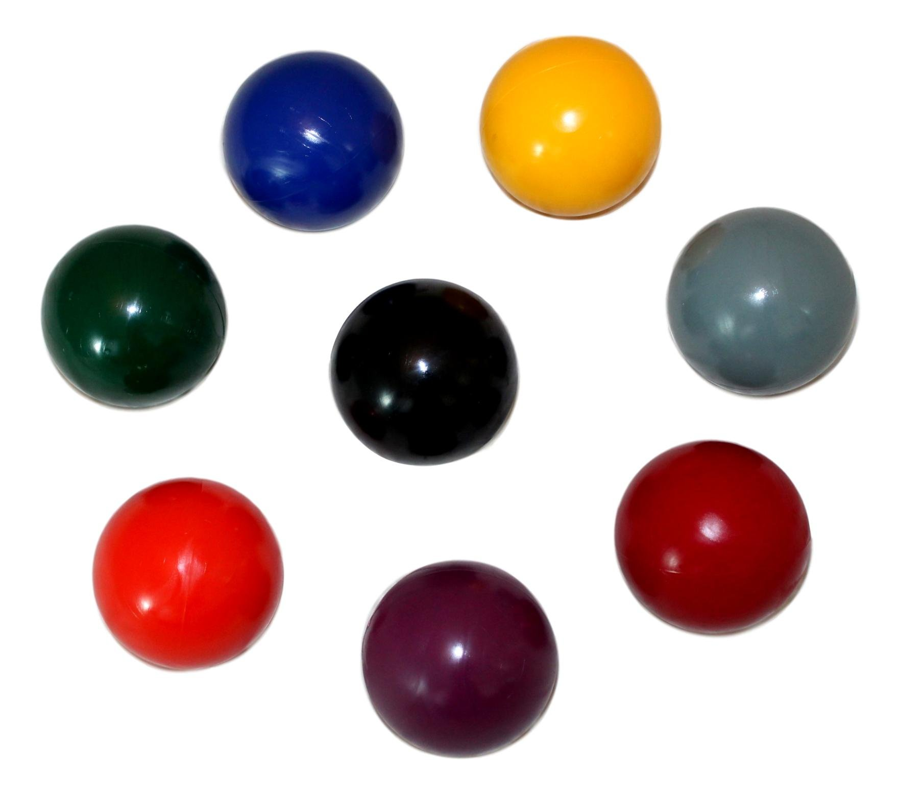 AmishToyBox.com Set of 8 Replacement Croquet Balls, Made in the USA, by AmishToyBox.com