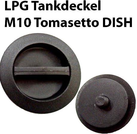 3x Dish M10 Verschlusskappe Für Dish Außengewinde M10 Tomasetto Standard Autogas Lpg 3er Set Tankverschluss 3x Dish M10 Tankdeckel Auto