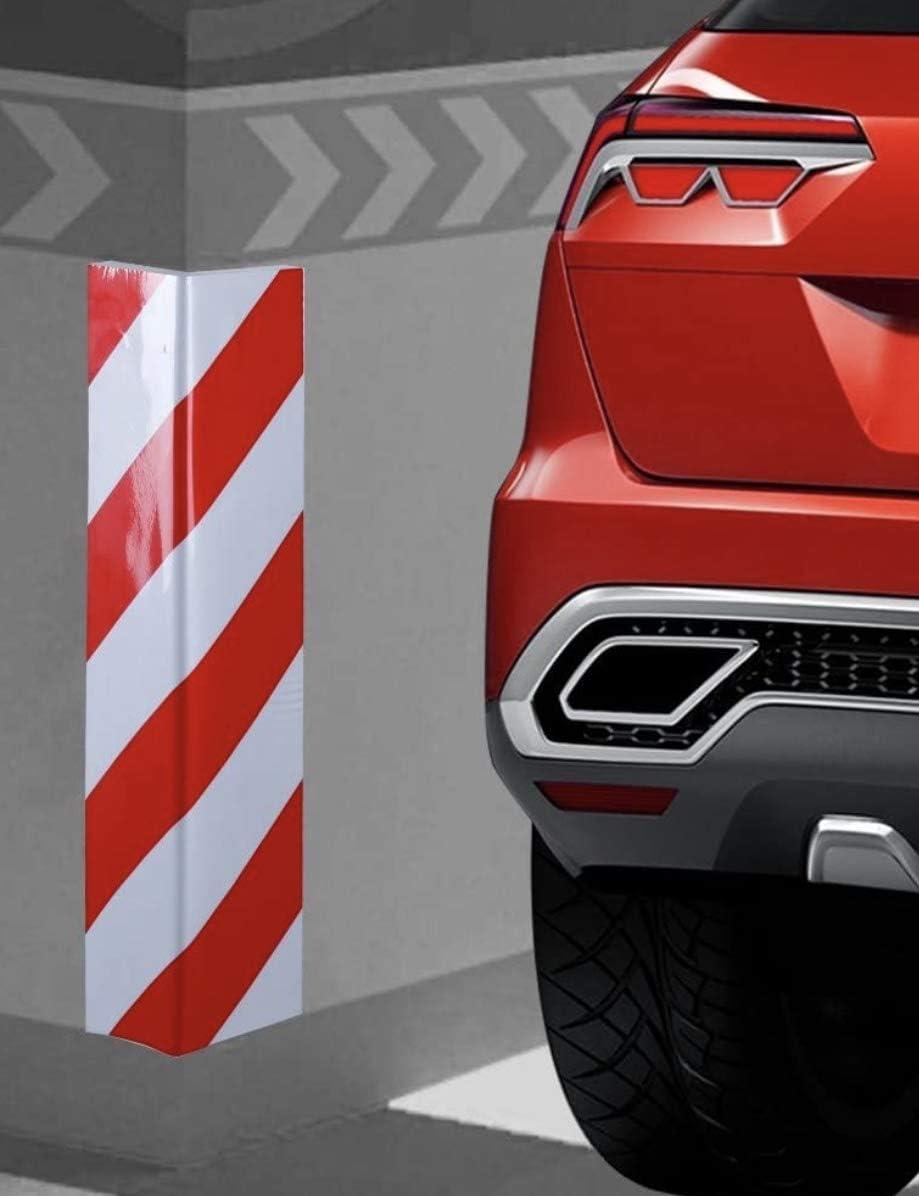 Parking Garaje Para Columnas JGR SELECT 2 Unidades Protector Garaje Esquina Paragolpes Para Puerta de Coche Adhesivo 40 * 15 cm Rojo y Blanco
