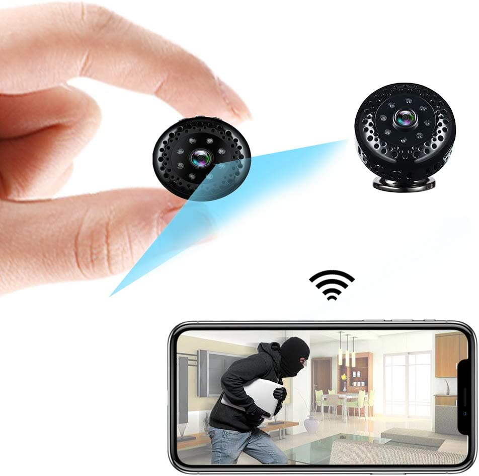 WiFi Spy Camera Wireless Remote Viewing Hidden Cam Mini 1080P HD Home Security Camera,Nanny Cam with Night Vision, Motion Detection,Small Portable Secret Video Recorder for Indoor Outdoor