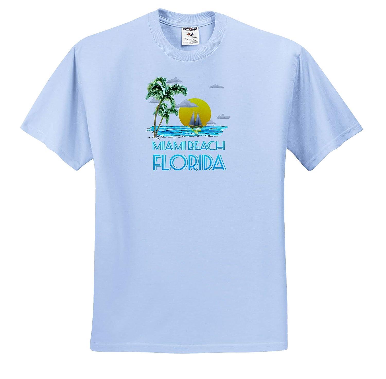 Florida - T-Shirts Nautical Sailing Beach Design for The Miami Beach Florida 3dRose Macdonald Creative Studios