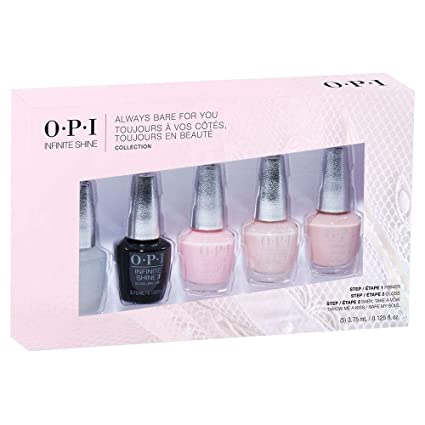 Opi Nail Polish Always Bare For You Collection Infinite Shine Gift Set 3 Count