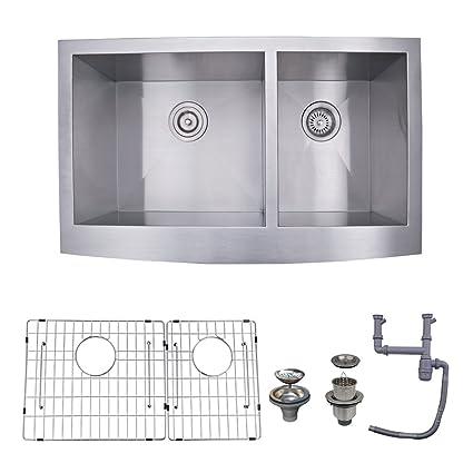 KES 33 Inch Farmhouse Sink Farm Sink For Kitchen Apron Front Kitchen Sink  16 Guage SUS ...