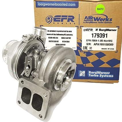 Amazon.com: BorgWarner EFR B2 7064D Turbo (179391) w/a divided T4 1.05 A/R Turbine Housing: Automotive