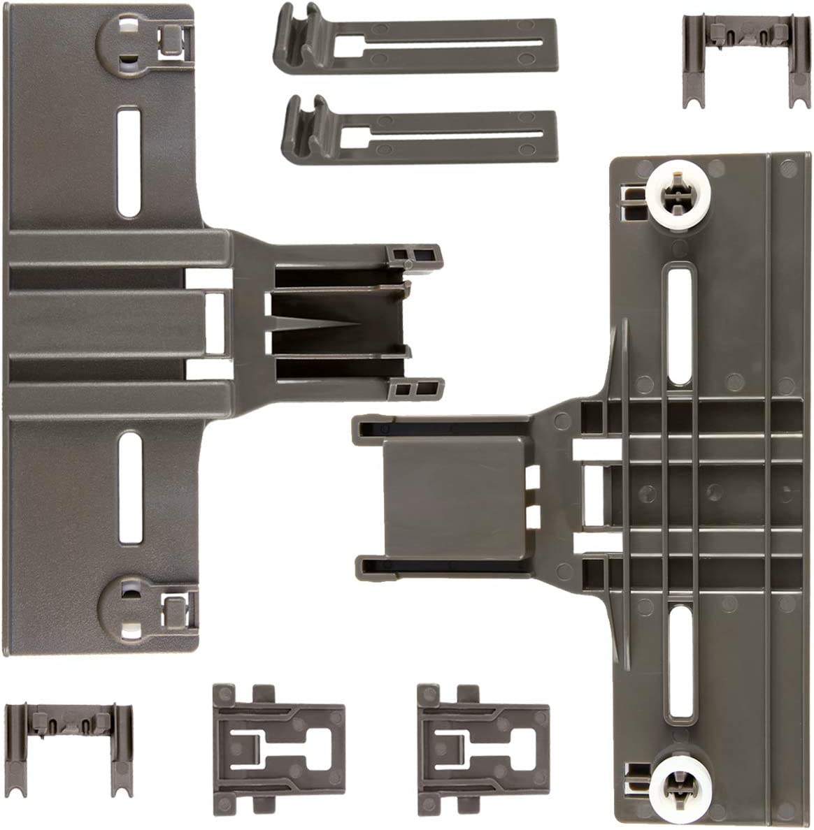 8 Packs Dishwasher parts upper rack W10350376(2) W10195840(2) W10195839(2) W10250160(2) for kitchenaid Kenmore elite kitchen Aid whirlpool kenmore Dishwasher Replaces W10712394 AP5272176 PS3497383