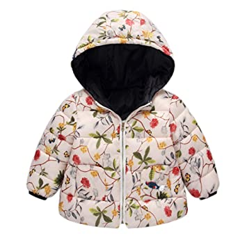 7558f7648b0a Amazon.com  Winter Coats for Kids with Hoods (Padded) Light Puffer ...