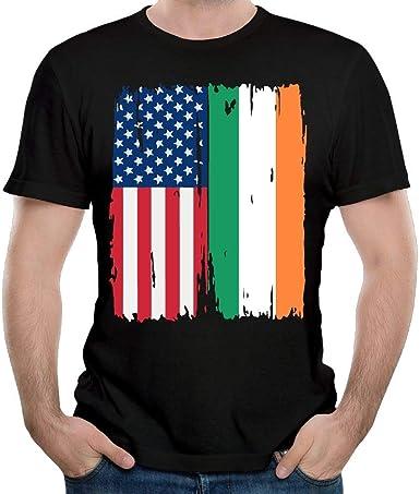 Bandera Irlandesa Americana Camisa de Manga Corta para Chico más Reciente Traje de Verano Top para Hombres S: Amazon.es: Ropa y accesorios