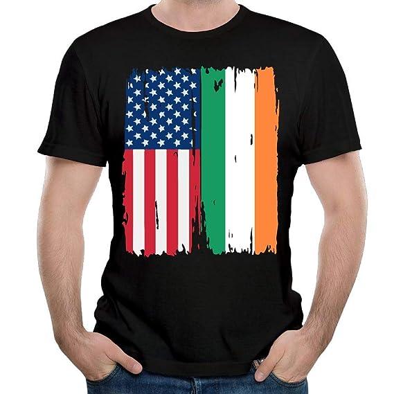 Bandera Irlandesa Americana Camisa de Manga Corta para Hombre con ...