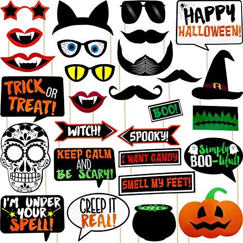 Easy Halloween Props - Jovitec 28 Pieces Halloween Ghost Photo