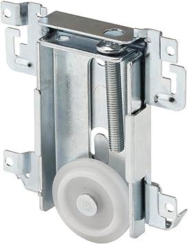 Prime Line N 6790 Mirror Door Roller Assembly Replacement Part For Steel Framed Mirror Closet Doors Steel Housing And Flat Edge Plastic Wheel 1 7 16 Bi Fold Door Hardware Amazon Com