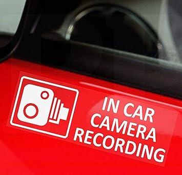 5 x externo en cámara grabación ventana pequeña pegatinas-87 mm x 30 mm-CCTV muestra-Van, camión, camión, Taxi, autobús, Taxi, de associated, tintadas desmayé Windows-go Pro, Dashcam: Amazon.es: Electrónica