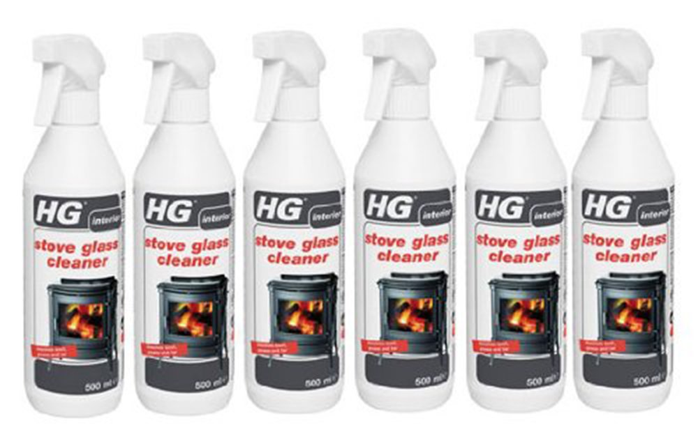 Case of 6 HG Stove Glass Woodburner Glass Cleaner Spray 500ml HG Hagesan