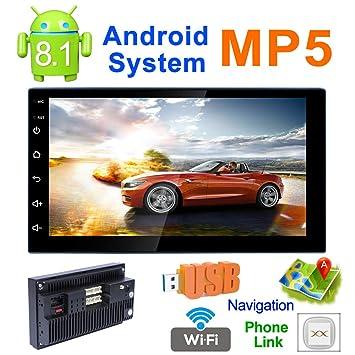 SSCJ Coche estéreo Android 8,1 Coche Radio Doble DIN Unidad ...