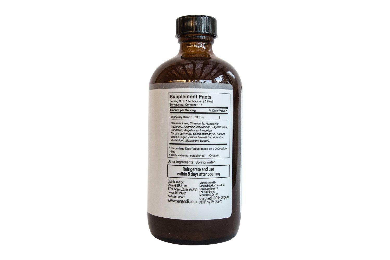 Amazon.com: Orgánica Detox Extracto de hierbas amargo Elixir ...