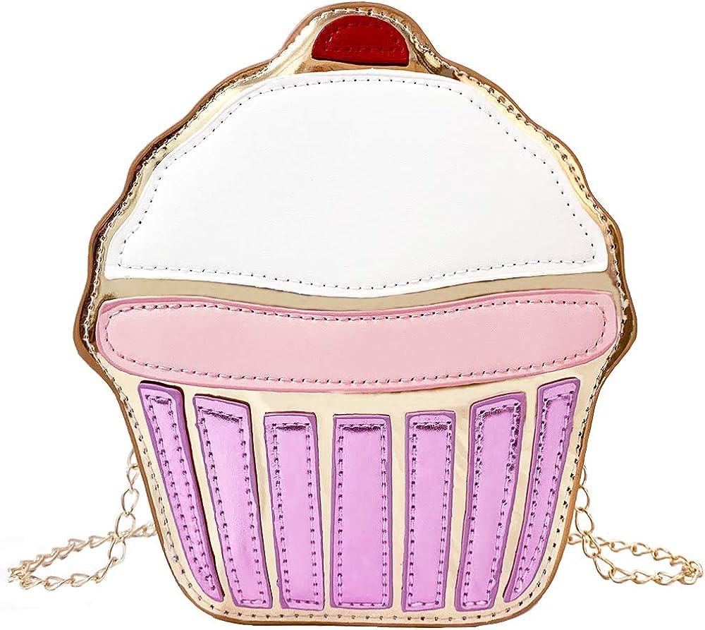 JIMDUO Hamburger shape Novelty PU Leather CrossbodyBags Cute Phone Bag Small Purse for women