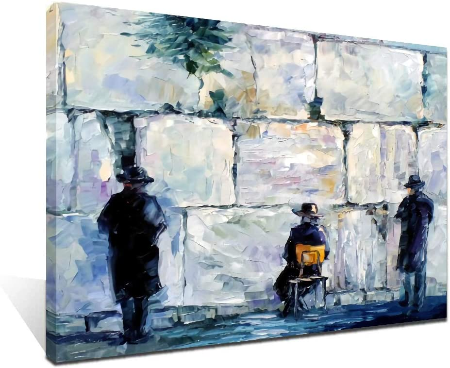 Amazon Com Ifine Art Jewish Wall Art Framed Oil Paintings Printed On Canvas For Home Decorations Home Decor Modern Artwork Hanging For Living Room Bedroom Ready To Hang Posters Prints